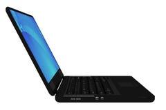 Nowożytny czarny laptop Zdjęcia Stock