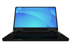 Nowożytny czarny laptop Fotografia Stock