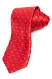 Nowożytny czerwony krawat Fotografia Stock