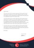Nowożytny czysty prosty letterhead Zdjęcie Stock
