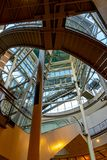 Nowo?ytny dach centrum handlowe w Amsterdam obraz stock