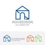 Nowożytny Domowy logo Zdjęcie Royalty Free