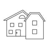 Nowożytny domu stylu okno kontur ilustracji