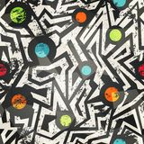 Nowożytny geometryczny bezszwowy wzór z grunge skutkiem Obrazy Royalty Free