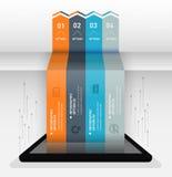Nowożytny infographic biznesowy origami stylu opcj sztandar Fotografia Stock
