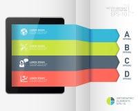 Nowożytny infographic biznesowy origami stylu opcj sztandar Obraz Royalty Free