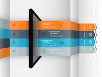 Nowożytny infographic biznesowy origami stylu opcj sztandar Zdjęcia Royalty Free