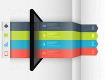 Nowożytny infographic biznesowy origami stylu opcj sztandar Zdjęcia Stock