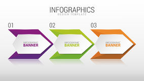 Nowożytny infographic projekta szablon kroki trzy wektor zdjęcie royalty free