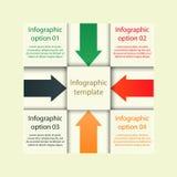 Nowożytny infographic szablon Obrazy Stock