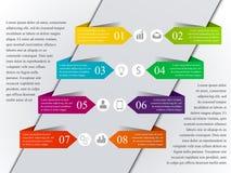 Nowożytny infographic szablon Zdjęcie Royalty Free