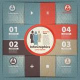 Nowożytny infographic szablon dla biznesu Obrazy Royalty Free