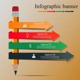 Nowożytny Infographic sztandar Fotografia Royalty Free