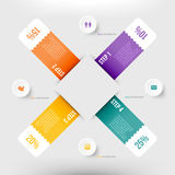 Nowożytny infographics element Fotografia Stock