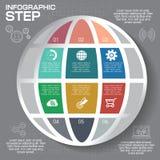 Nowożytny infographics opci sztandar Zdjęcia Stock