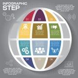 Nowożytny infographics opci sztandar Obrazy Royalty Free