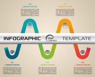 Nowożytny infographics opcj szablonu wektor z kolorowym faborkiem Zdjęcie Stock