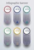 Nowożytny infographics sztandar Obraz Stock