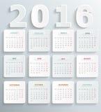 Nowożytny kalendarz 2016 ilustracja wektor