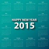 Nowożytny kalendarz 2015 w czerwonego koloru papieru stylu wektor, ilustracja/ Zdjęcia Stock