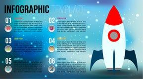 Nowożytny kolorowy infographics opcj szablon z mieszkaniem s Zdjęcie Stock