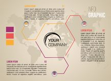 Nowożytny kolorowy infographics opcj szablonu wektor z colorf Zdjęcie Stock