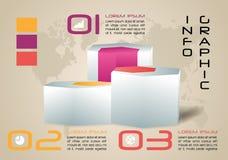 Nowożytny kolorowy infographics opcj szablonu wektor z 3D hex Zdjęcie Stock
