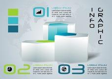 Nowożytny kolorowy infographics opcj szablonu wektor z 3D hex Obraz Royalty Free