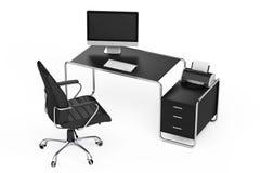 Nowożytny kreatywnie workspace Komputer jest na biuro stole z Blac Obrazy Royalty Free