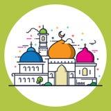 Nowożytny kreskowego stylu Islamski meczet Fotografia Stock