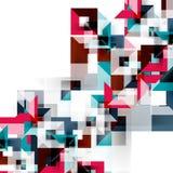 Nowożytny kwadratowy geometryczny deseniowy projekt na bielu Obraz Royalty Free
