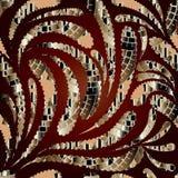Nowożytny kwiecisty abstrakcjonistyczny bezszwowy wzór Zdjęcie Stock