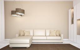 Nowożytny living-room. Fotografia Royalty Free