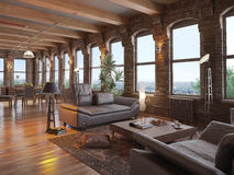 Nowożytny loft Zdjęcie Royalty Free