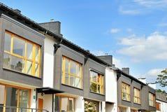 Nowożytny, Luksusowy budynek mieszkaniowy dom nowoczesne mieszkania Fotografia Royalty Free
