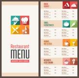 Nowożytny menu szablon Fotografia Stock