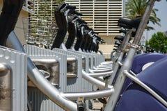 Nowożytny miasto roweru parking Zdjęcia Royalty Free
