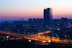nowożytny miasto wieczór Zdjęcie Stock