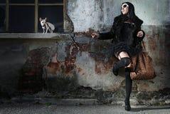nowożytny moda ruch punków Zdjęcia Royalty Free