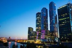 Nowożytny Moskwa centrum biznesu Fotografia Stock