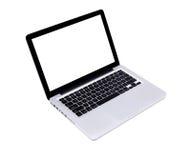 nowożytny odosobniony laptop obraz stock
