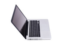 nowożytny odosobniony laptop obrazy royalty free