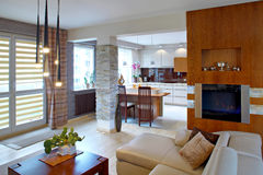 Nowożytny pokój dzienny Zdjęcie Royalty Free
