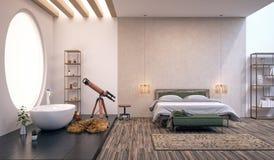 Nowożytny projekt sypialnia Zdjęcie Stock