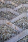 Nowożytny prosty kamienny schody Fotografia Royalty Free