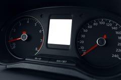 Nowożytny samochodowy deska rozdzielcza pokaz Zdjęcie Stock