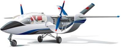 Nowożytny samolot Zdjęcia Royalty Free