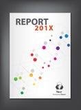 Nowożytny sprawozdanie roczne pokrywy projekt Obrazy Stock