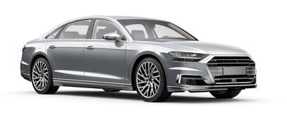 Nowożytny srebny luksusowy samochód Obrazy Stock