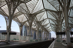 nowożytny stacyjny metro Zdjęcia Royalty Free